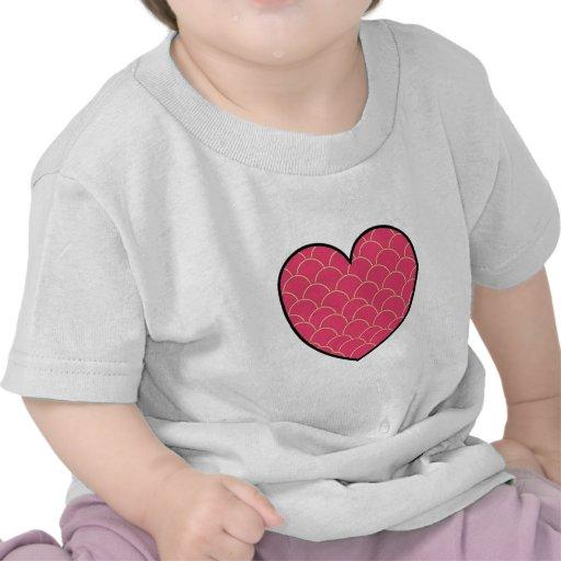 Corazón llenado camisetas