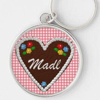 """Corazón """"Madl """" de Oktoberfest Llaveros Personalizados"""