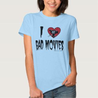 (Corazón) mala camiseta de las películas I Camisas