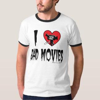 (Corazón) mala camiseta de las películas I Playera