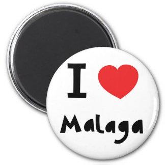 Corazón Málaga Imán Redondo 5 Cm