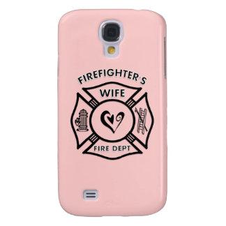 Corazón maltés de la esposa de los bomberos funda para galaxy s4