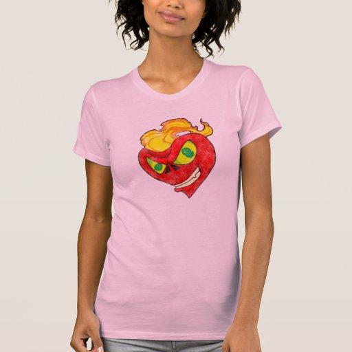 Corazón malvado camisetas