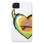 Corazón malvado del arco iris iPhone 4 Case-Mate coberturas