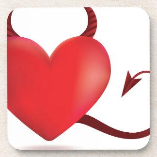 Corazón malvado posavasos de bebida