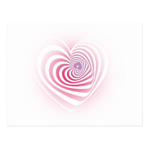 Corazón mareado postal
