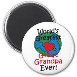 Corazón más grande del abuelo del mundo el gran iman de frigorífico