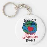 Corazón más grande del abuelo del mundo el gran llavero