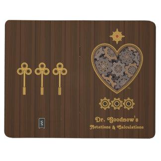 Corazón mecánico de Steampunk Cuadernos