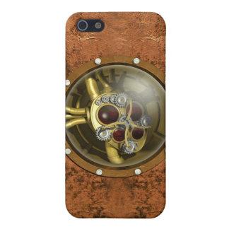 Corazón mecánico de Steampunk iPhone 5 Cárcasas