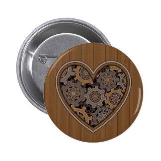 Corazón mecánico de Steampunk Pin