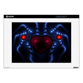 Corazón metálico extranjero de la araña portátil calcomanía