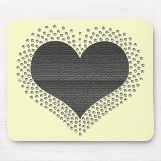 Corazón metálico Mousepad, gris Alfombrillas De Ratón
