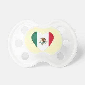 Corazón mexicano chupetes de bebé