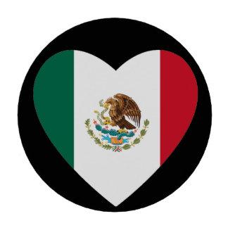 Corazón mexicano juego de fichas de póquer