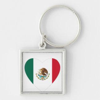 Corazón mexicano llavero