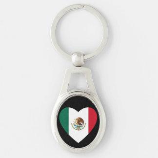 Corazón mexicano llaveros