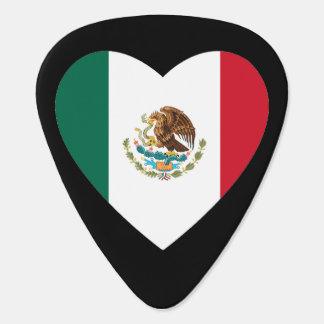 Corazón mexicano púa de guitarra