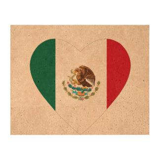 Corazón mexicano papel de corcho