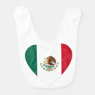 Corazón mexicano babero de bebé