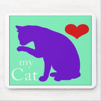 Corazón mi gato #2 alfombrilla de ratones