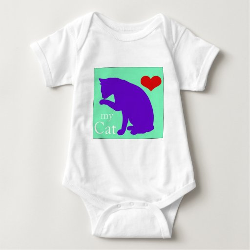 Corazón mi gato #2 body para bebé