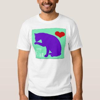 Corazón mi gato #2 camisas
