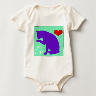 Corazón mi gato #2 mamelucos de bebé