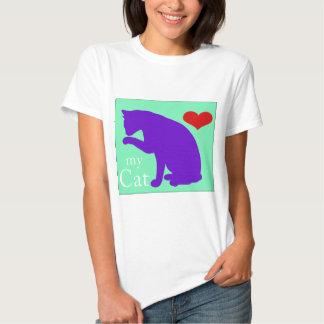 Corazón mi gato #2 remeras