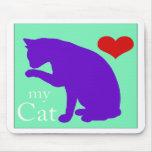 Corazón mi gato #2 tapetes de ratón