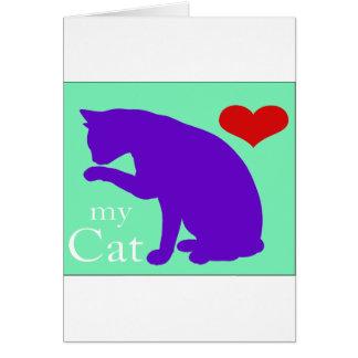 Corazón mi gato #2 tarjeton