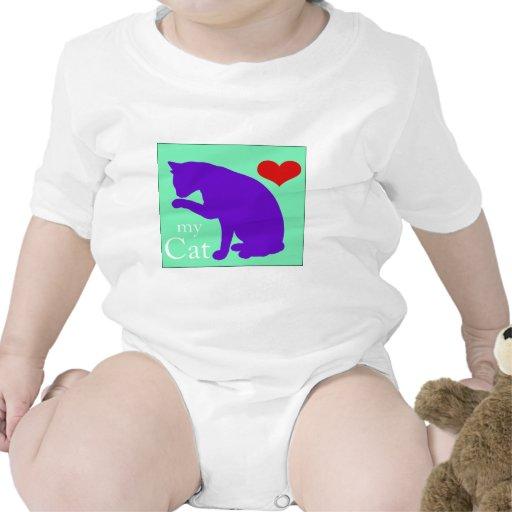 Corazón mi gato #2 trajes de bebé