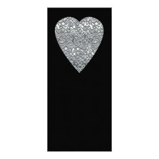 Corazón. Modelo gris gris claro y mediados de impr Diseño De Tarjeta Publicitaria