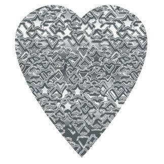 Corazón. Modelo gris gris claro y mediados de impr Pin Fotoescultura