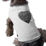 Corazón. Modelo gris impreso Camiseta De Perrito