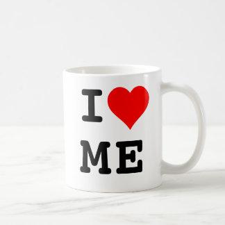 Corazón moderno de I yo taza de café