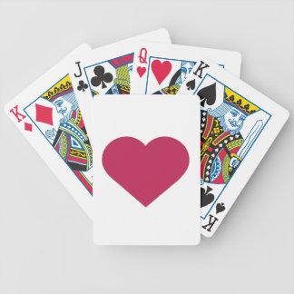 Corazón moderno magenta de la baya simple cartas de juego