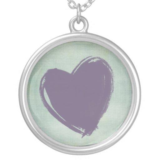Corazón morado pendants
