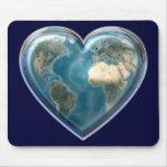 Corazón Mousepad de la tierra Tapetes De Raton