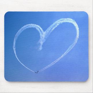 Corazón Mousepad del cielo Tapetes De Raton