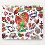 Corazón Mousepad del tatuaje Alfombrillas De Raton