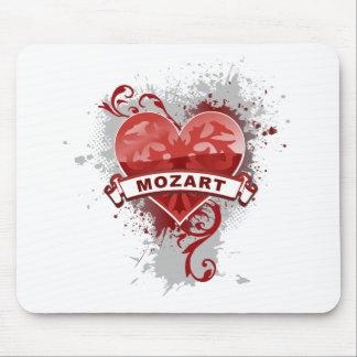 Corazón Mozart Tapetes De Ratón