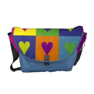 Corazón multicolor bolsa messenger
