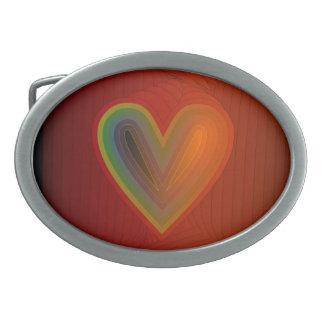 Corazón multicolor > hebilla del cinturón de moda hebilla cinturon oval