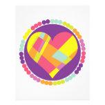 Corazón multicolor membrete personalizado