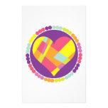 Corazón multicolor papelería