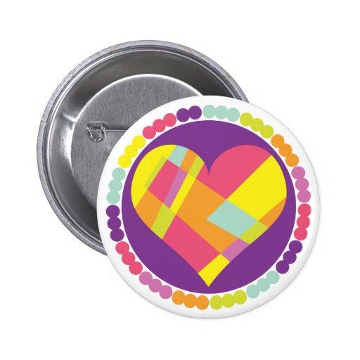 Corazón multicolor pin