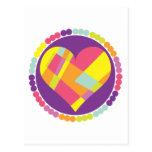 Corazón multicolor postal