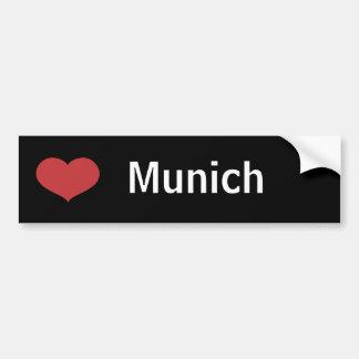 Corazón Munich Etiqueta De Parachoque