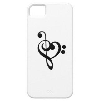 Corazón musical - Clefs agudos y bajos Funda Para iPhone SE/5/5s